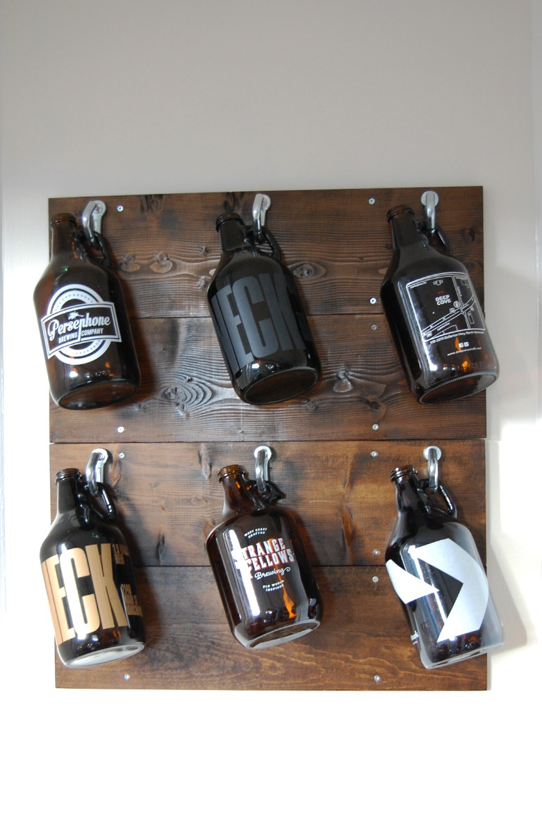 DIY Growler Wall After