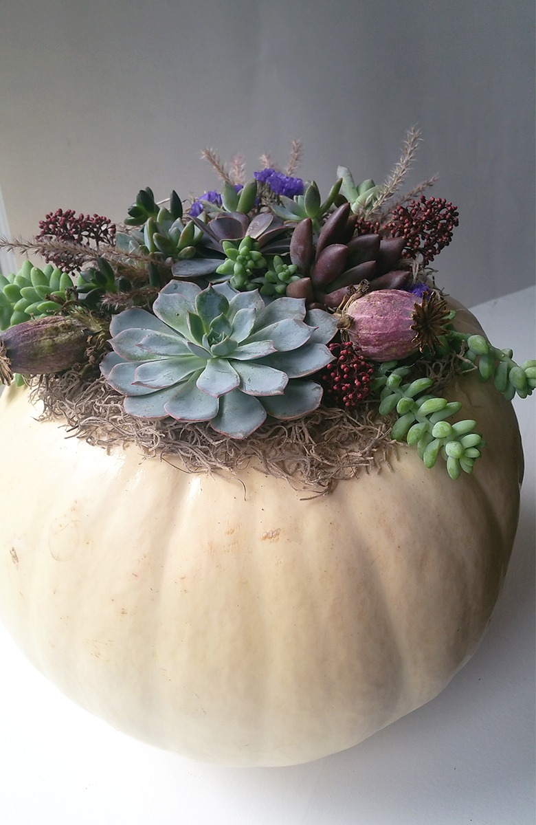 Large White Pumpkin Centerpiece