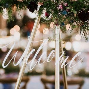 DIY Wedding - Plexiglass Welcome Sign