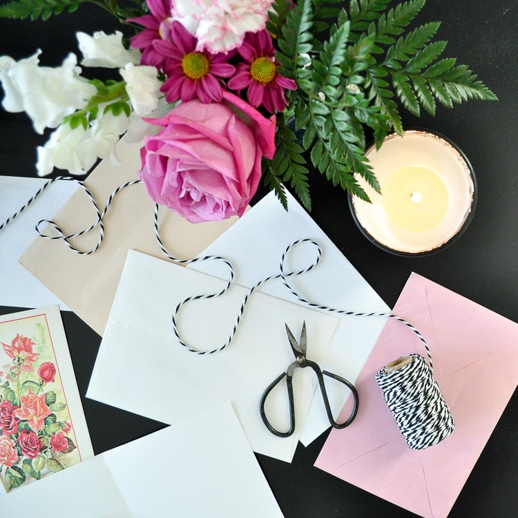 Flowers candle handwritten notes