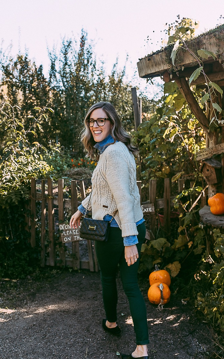 Fall fashion in the pumpkin patch, on a budget