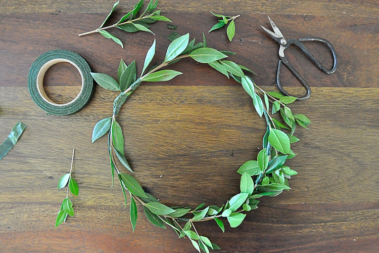 Greenery for floral crown DIY