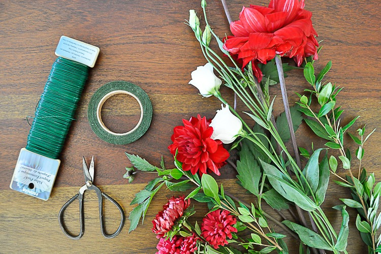 Materials for DIY Floral Crown