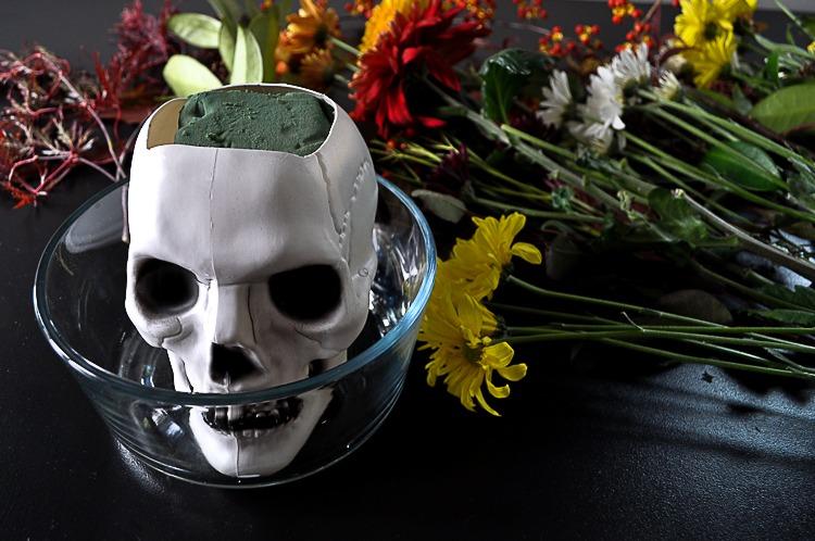 DIY floral skull for Halloween