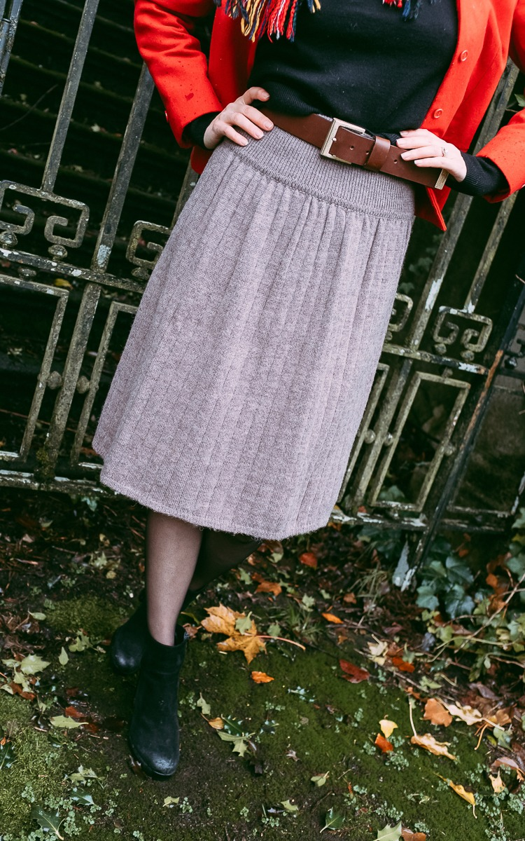 Vintage wool skirt thrifted