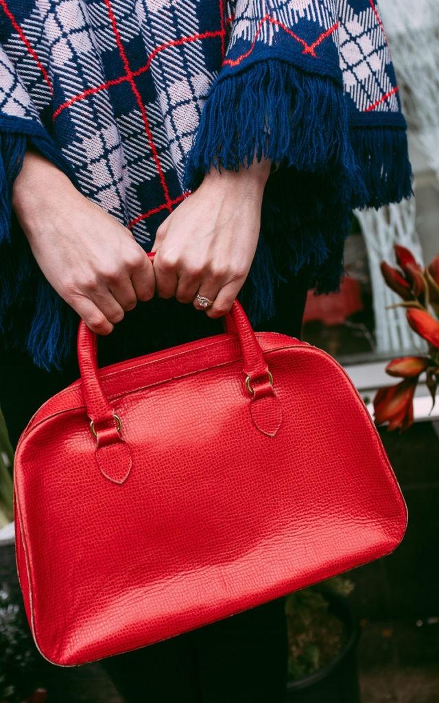 Vintage red leather Holt Renfrew purse