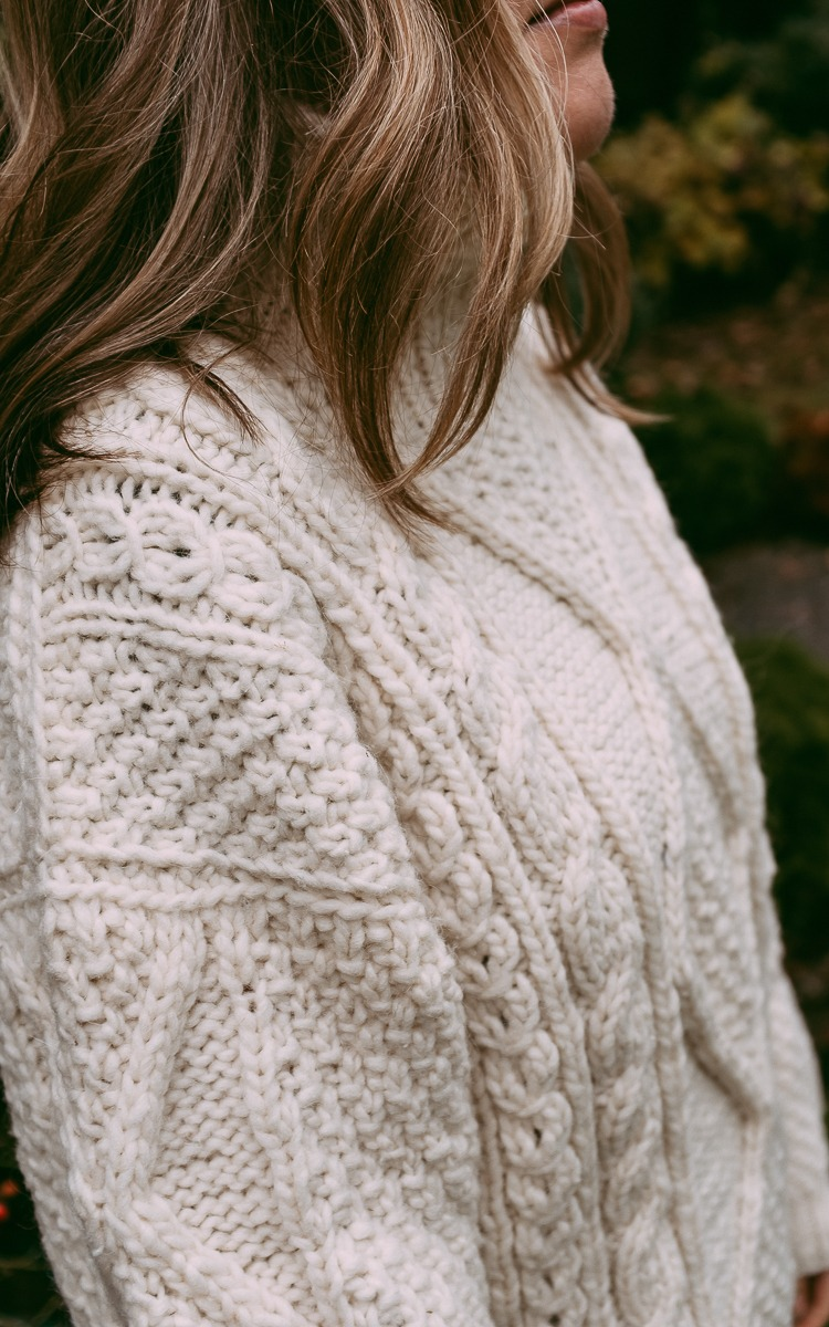 Vintage oversized sweater for winter