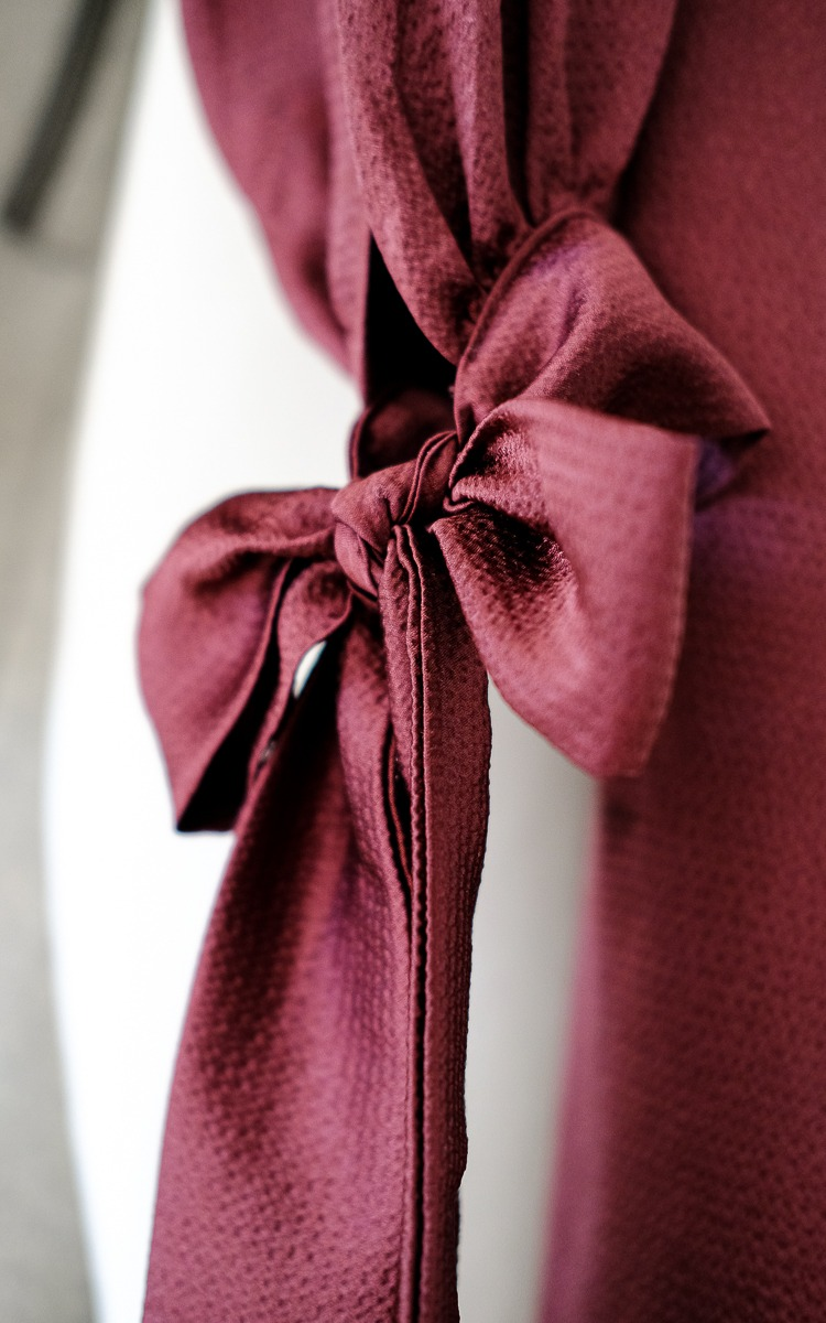 Burgundy wrap dress Tobi