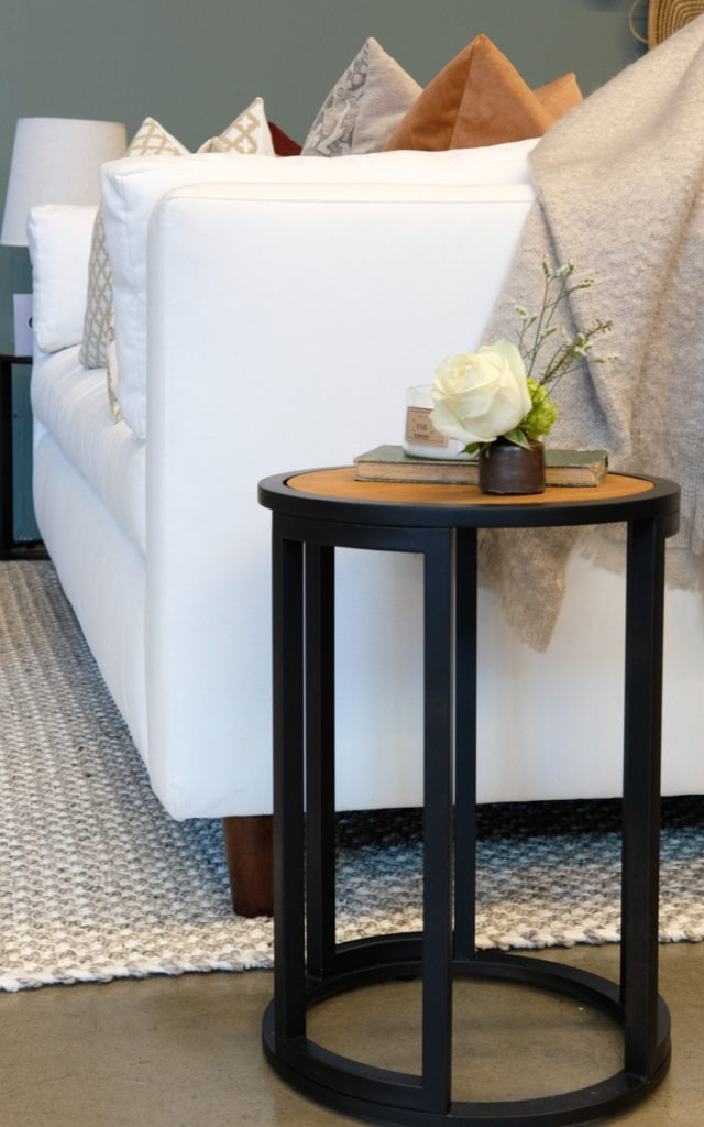 Upcycled side tables with Rust-Oleum Flat Black