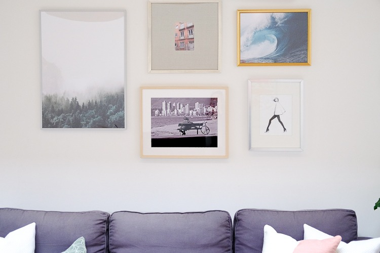 A diy gallery wall on a budget
