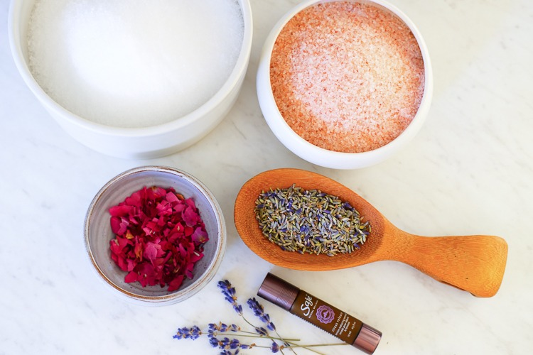 DIY bath salts materials