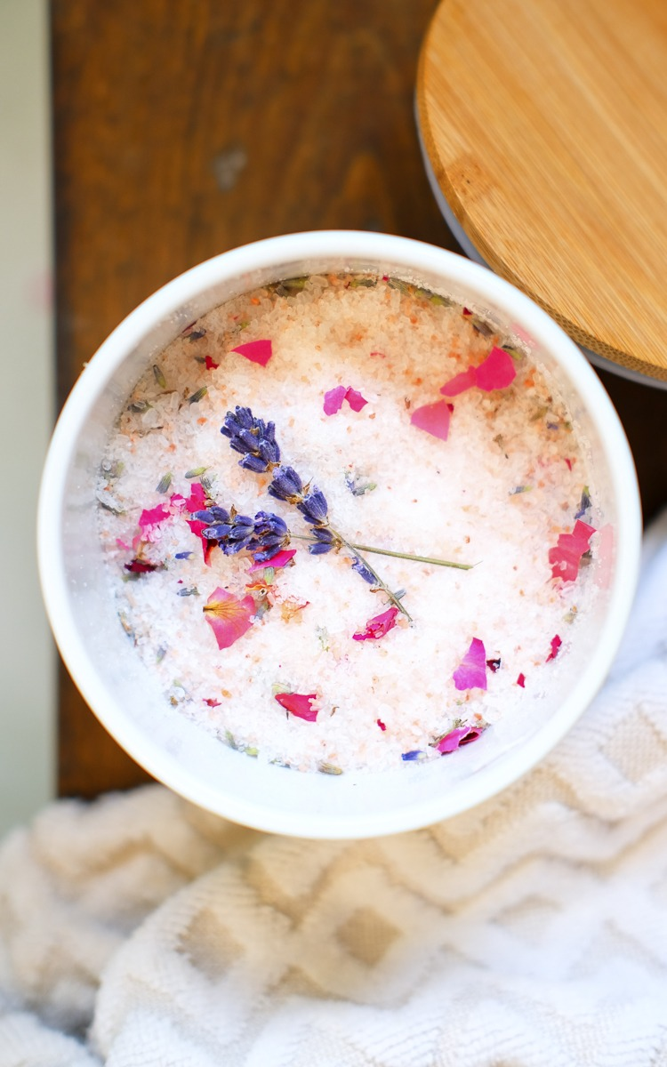 Homemade bath salts for mother's day