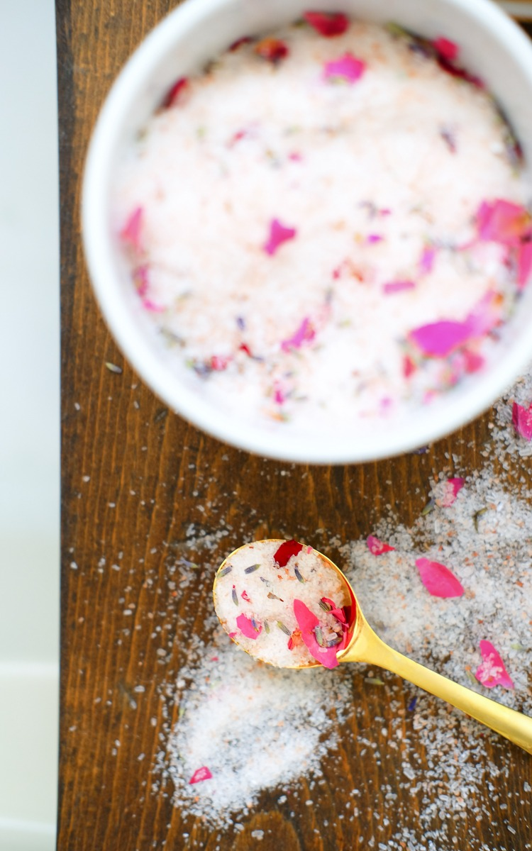 DIY bath salts, affordable mother's day gift