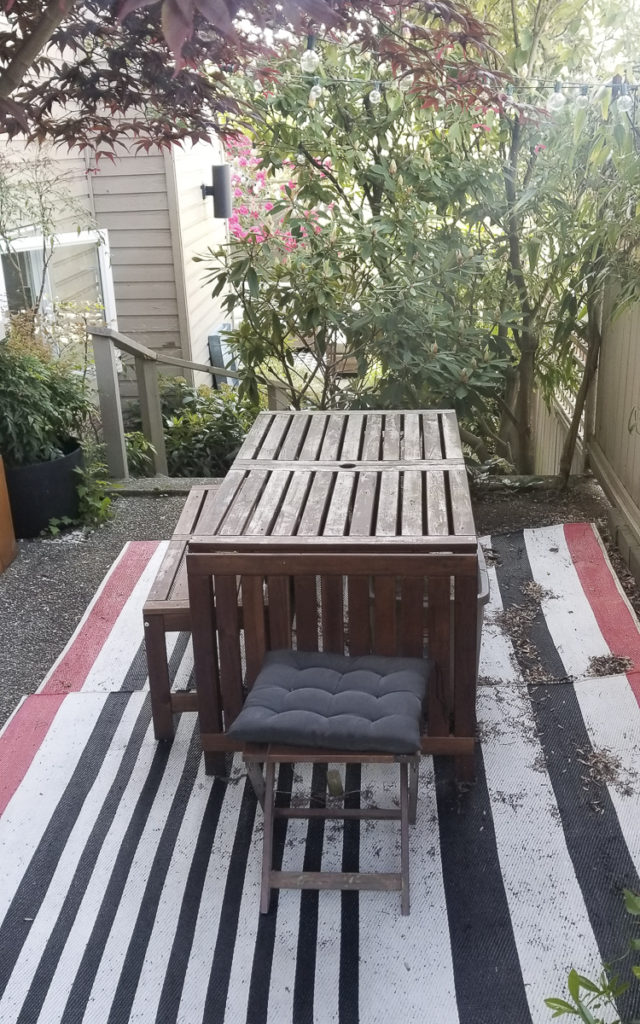 patio after a few seasons