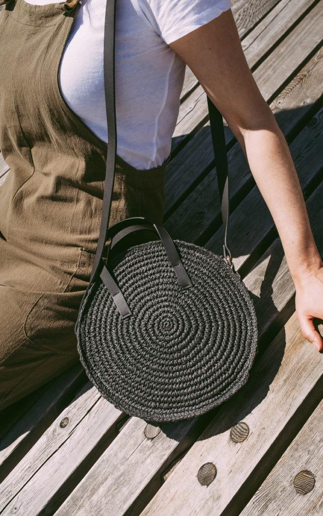 summer straw bag details