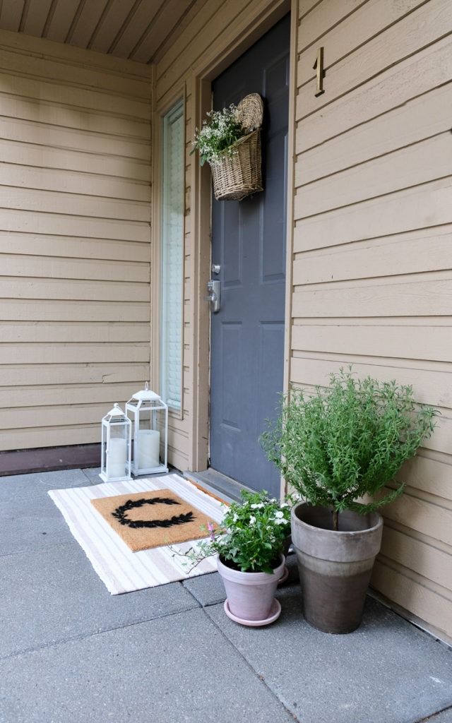 front door decor with easy diy's