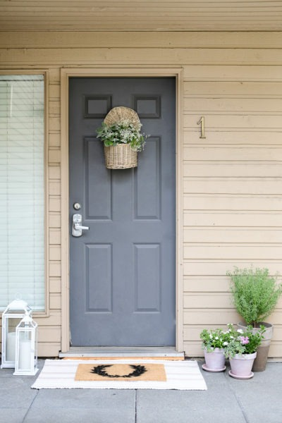 front stoop decor makeover reveal