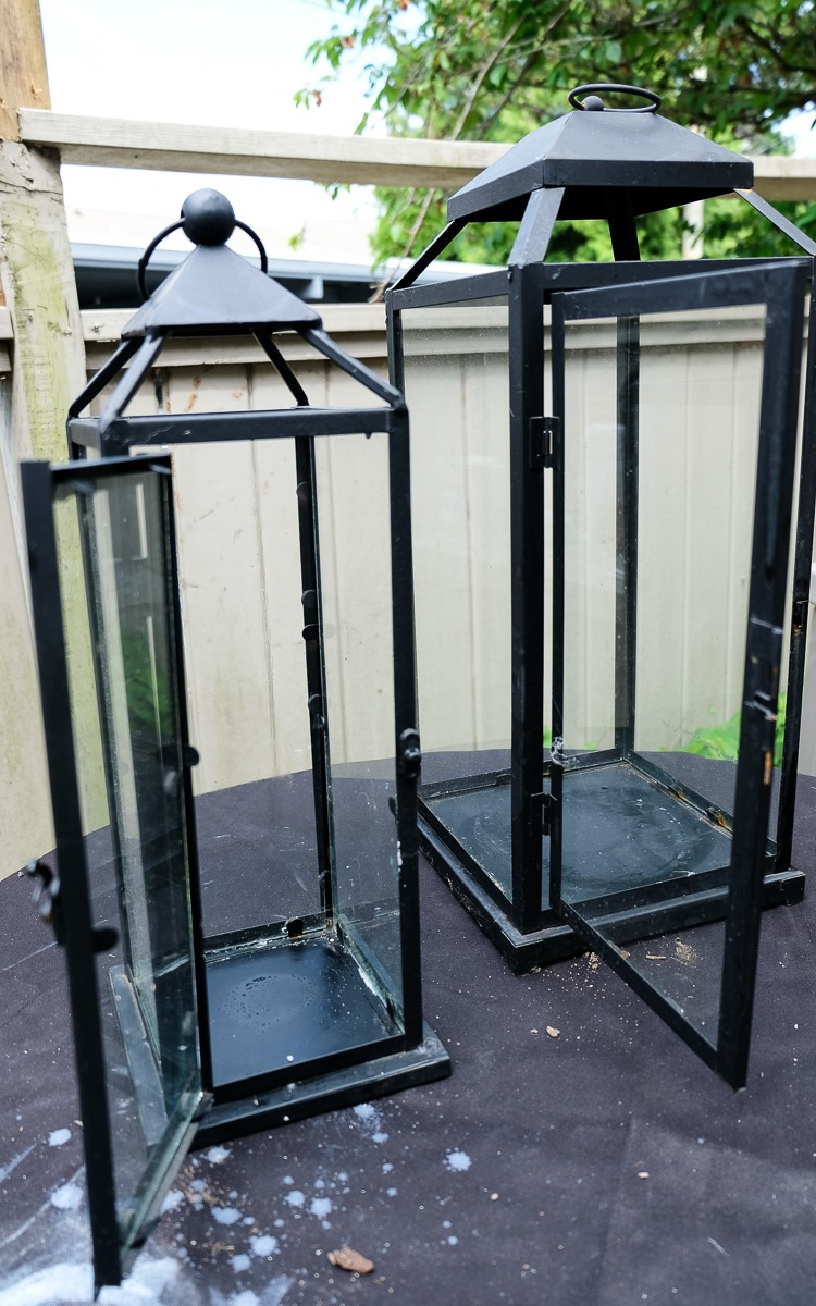 Diy upcycled lanterns