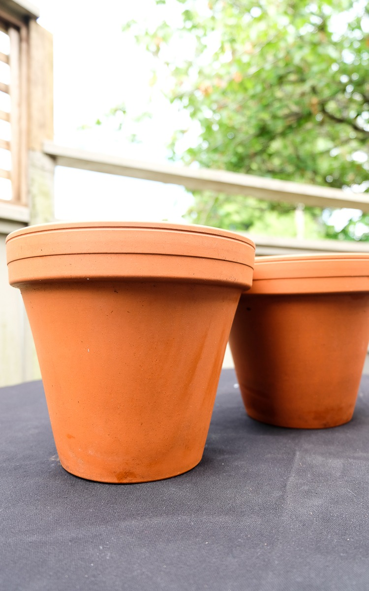 terracota pots diy