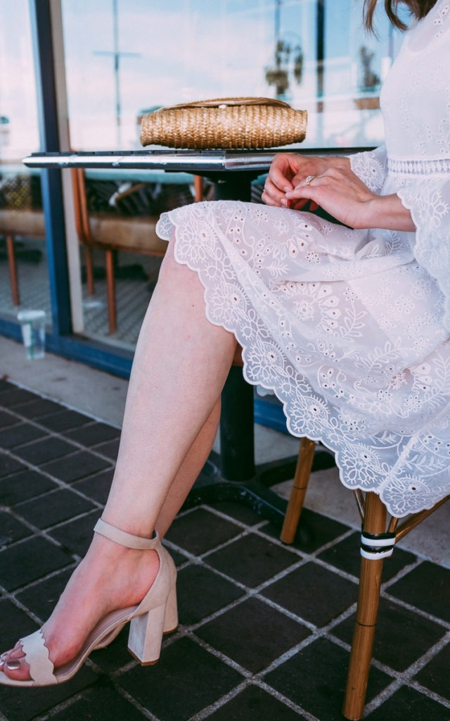 Blush heels for summer