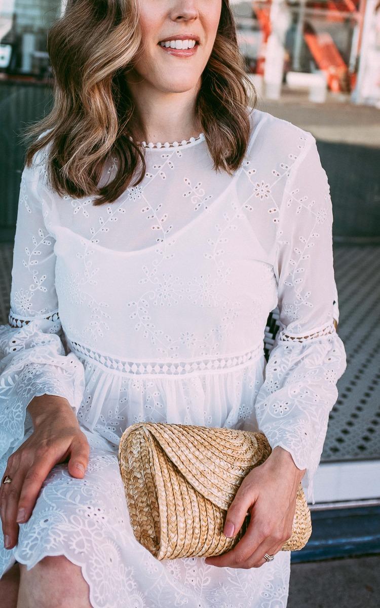 White eylet dress