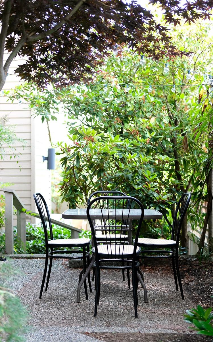 DIY patio before, outdoor patio dining