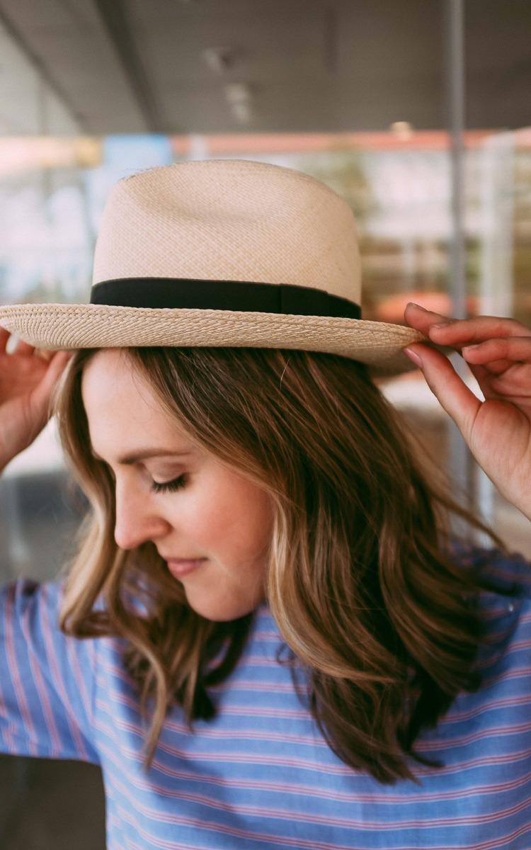 thrifted straw hat