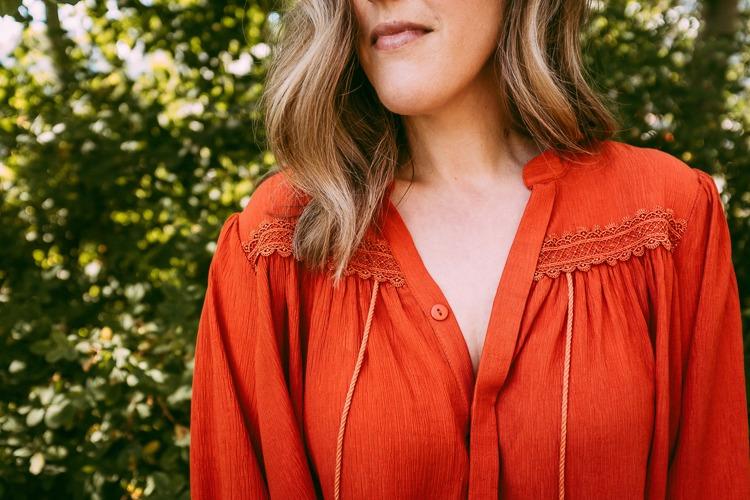 Orange Shirt for Fall