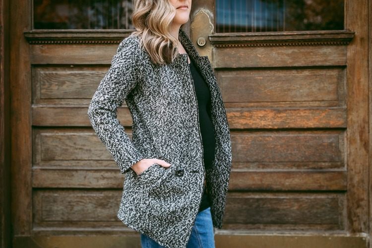 grey fall coat