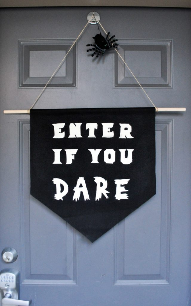 halloween diy banner