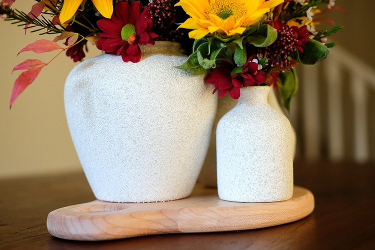 Stone accent vase