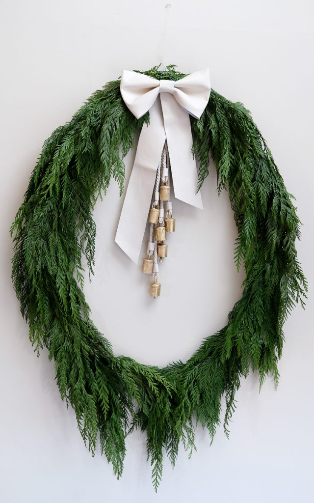 DIY Holiday Wreath after