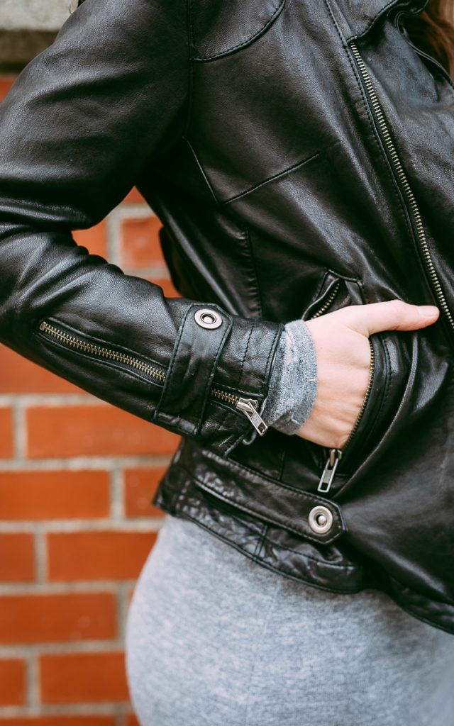 Leather jacket detials