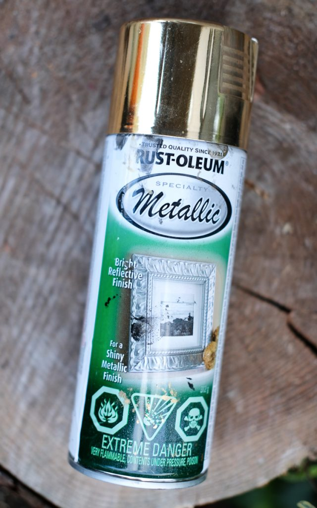 Rust-Oleum mettalic spray paint