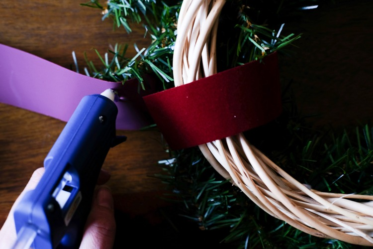hot glue gun ribbon