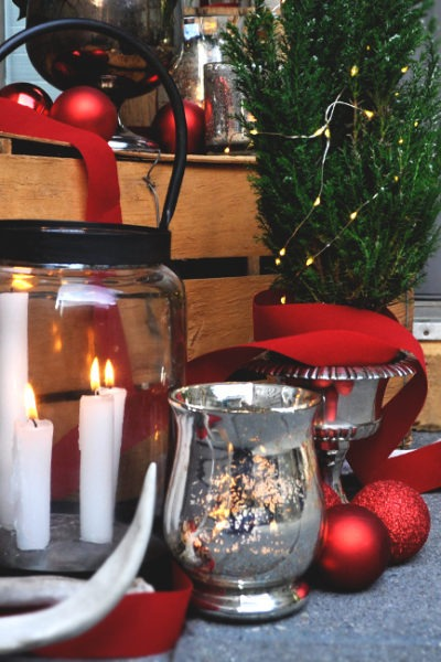 Vintage holiday decor thrifed on a budget