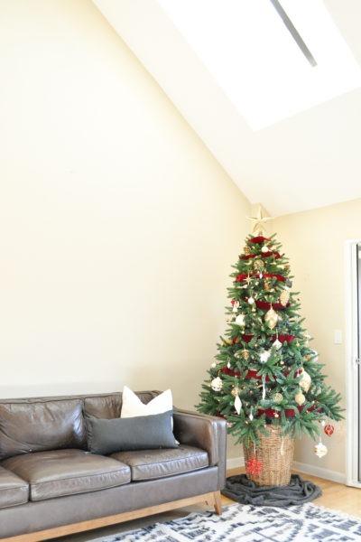 Easy diy christmas tree basket base