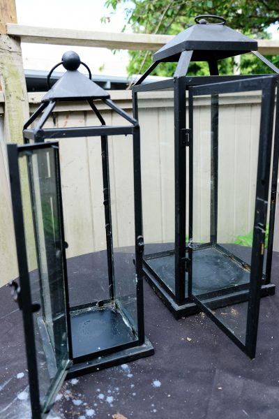 Diy upcycled lanterns