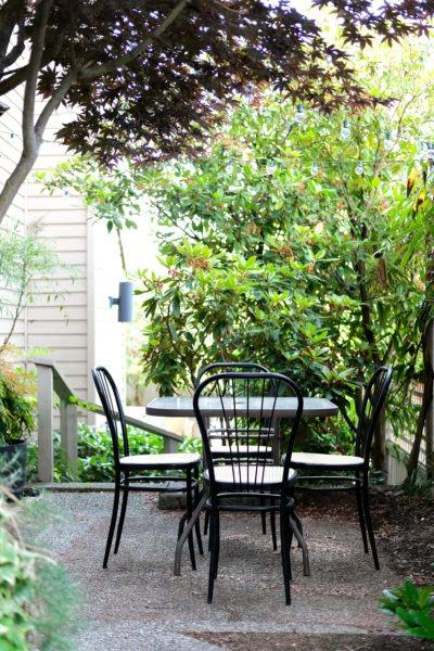Outdoor patio set before