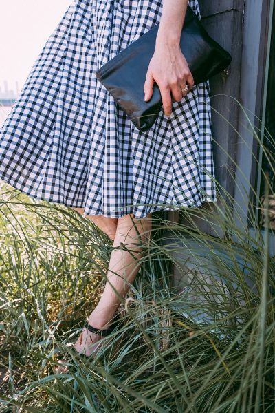 gingham dress with espadrilles on a budget